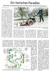 """Zeitungsartikel aus """"Mein Ganderkesee - Das Stadtmagazin des Delme Report"""" Winter 2020."""